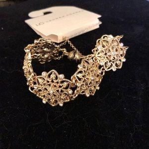 Gold flower bracelet lc Lauren Conrad
